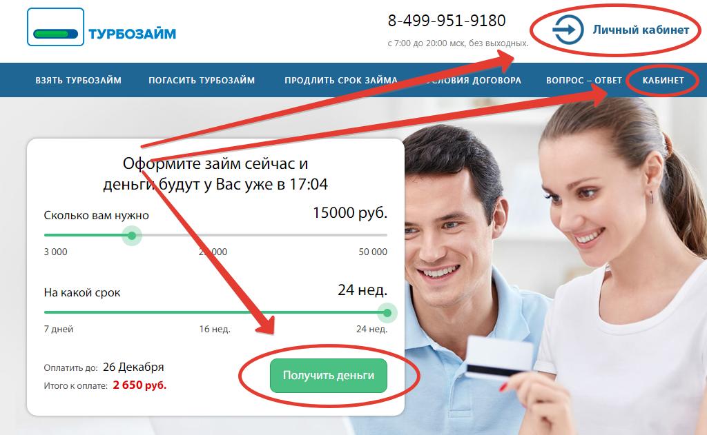 выбор формы займы в МФО Турбозайм