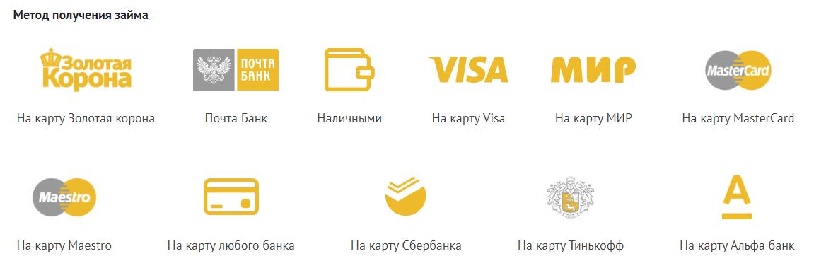 выбор способа вывода денег изМКК Финтерра